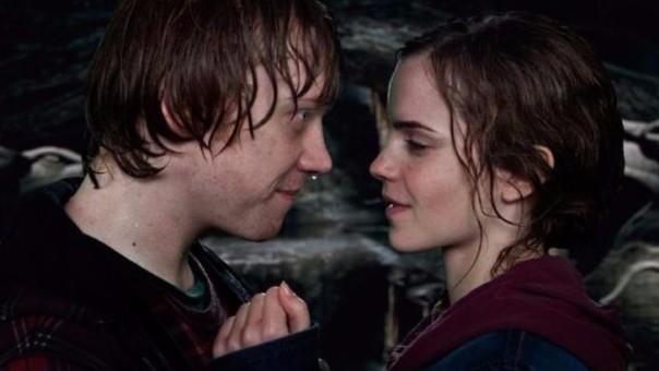 Rupert Grint y Emma Watson grabaron la escena del beso en una sola toma.