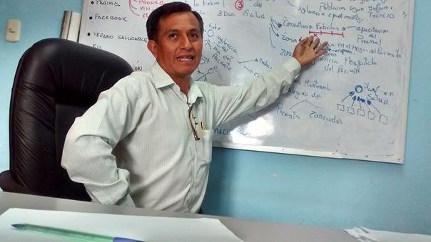 Director de la Red de Salud Pacífico Norte, Jhony Cano Suárez