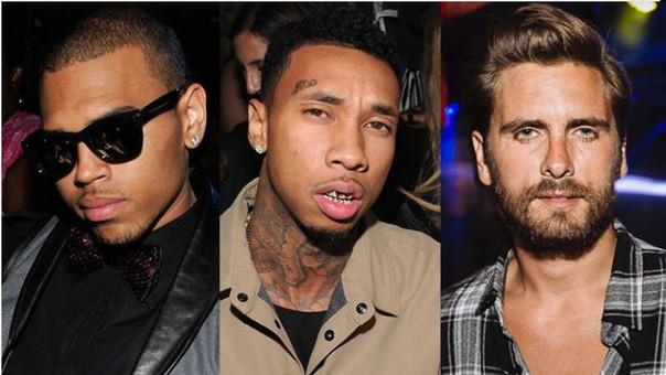 Chris Brown, Tyga y Scott Disick