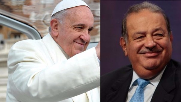 Papa Francisco y Carlos Slim
