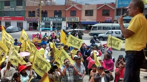 Mitin de Solidaridad Nacional en Arequipa