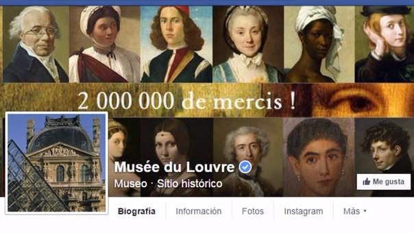 Página del Museo del Louvre