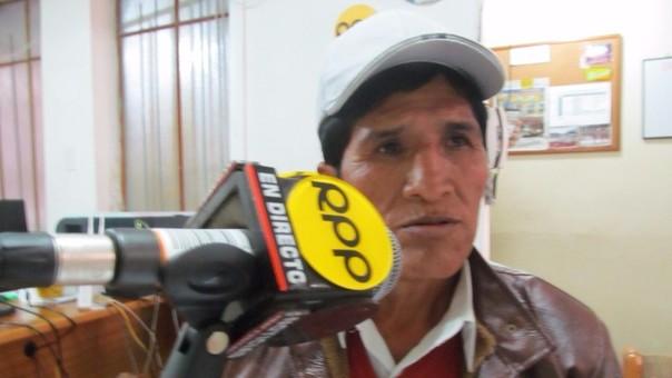 Crisóstomo Álvarez Mamani, productor cafetalero de San Pedro de Putina Punco.