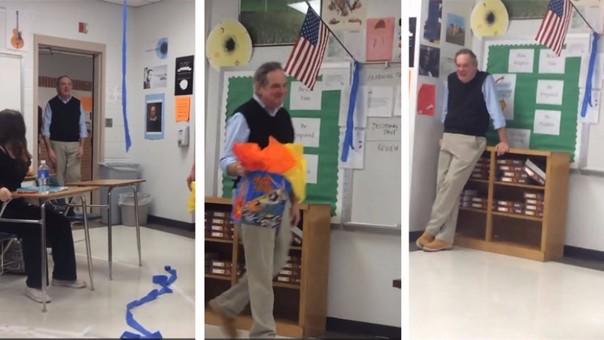 Profesor se llevó una buena sorpresa
