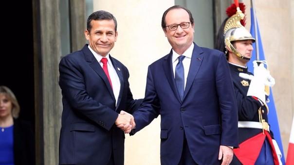 Ollanta Humala y François Hollande