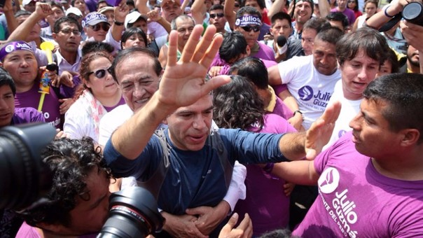 Candidato presidencial de Todos por el Perú, Julio Guzmán