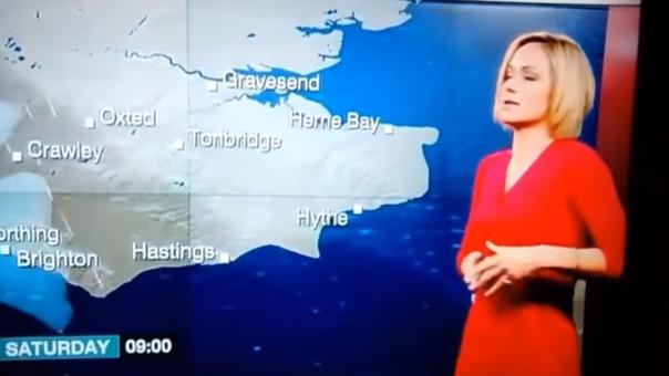 Presentadora de la BBC perdió el conocimiento en programa