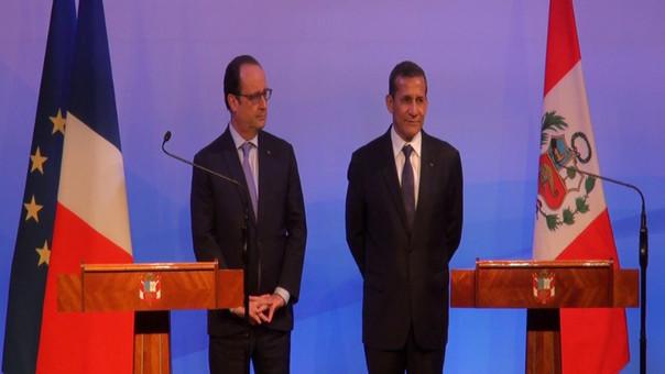 Francois Hollande y Ollanta Humala