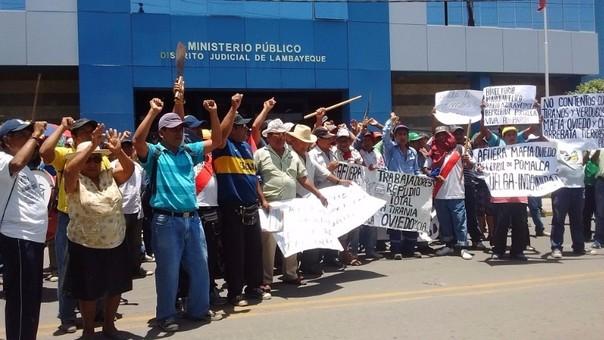 Protesta Pomalca