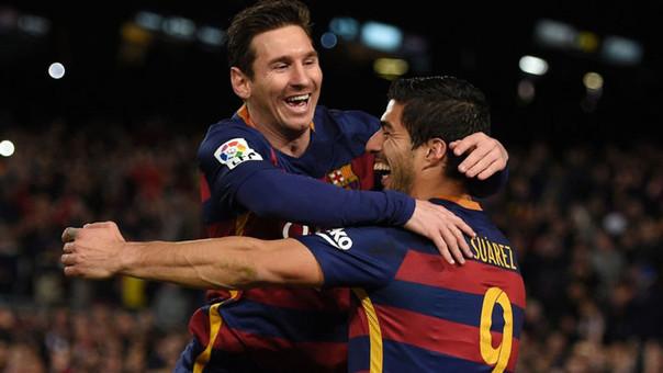 Luis Suárez y Lionel Messi