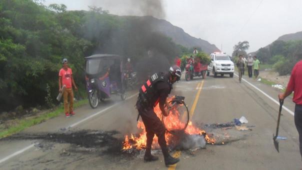 Vía Chongoyape-Chota bloqueada