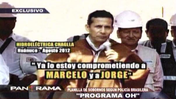 Humala hace referencia a Marcelo (Odebrecht) y Jorge (Barata) en anuncio de construcción de una hidroeléctrica adjudicada a la empresa brasilera.