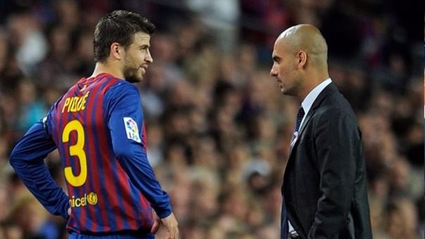 Gerard Piqué descartó irse al Manchester City de Josep Guardiola