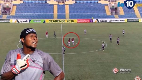 Gol de media cancha en Brasil