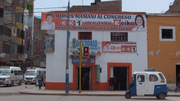 Partido Fuerza Popular vulnera ley sobre propaganda electoral.