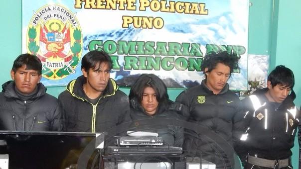 Sujetos perteneces a banda de asaltante de centro minero La Rinconada.