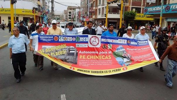Marcha para exigir la reactivación económica de Áncash