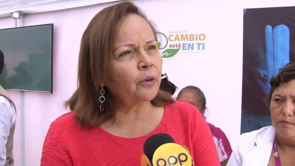 Rosa María Ortiz, ministra de Energía y Minas.