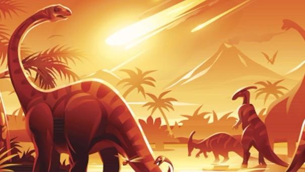 Meteorito impacto con la Tierra  hace unos 66 millones de años  y provocó la extinción de los dinosaurios