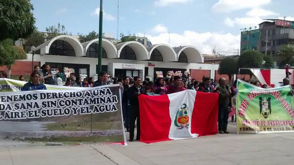 6_ Protesta de pobladores de Andaychagua