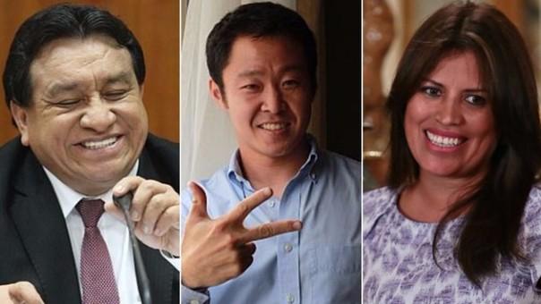 Izq. José Luna | Cnt. Kenji Fujimori | Der. Carmen Omonte