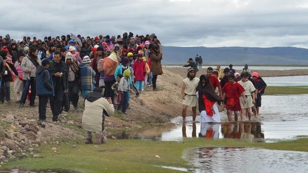 Escenificación de la Pesca Milagrosa en Junín.