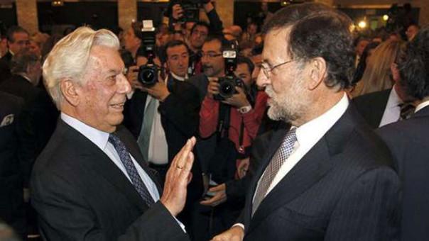 Mario Vargas Llosa recibió un saludo de cumpleaños de parte de Mariano Rajoy