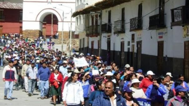Marcha en Huamachuco
