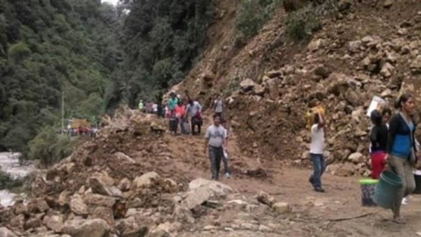 deslizamientos en Huarochirí