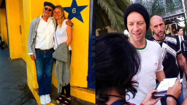 Gwyneth Paltrow y Chris Martin en Buenos Aires