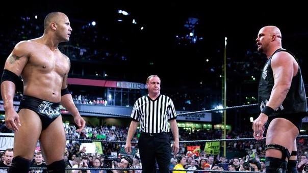 The Rock vs. Stone Cold en Wrestlemania