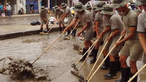 Importante labor de soldados del ejército.