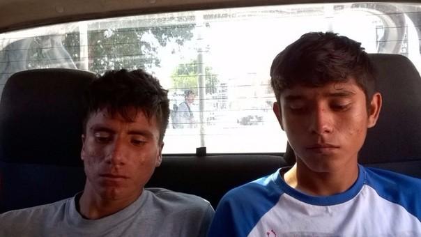 Sujetos fueron detenidos por personal de la Comisaría de Pátapo