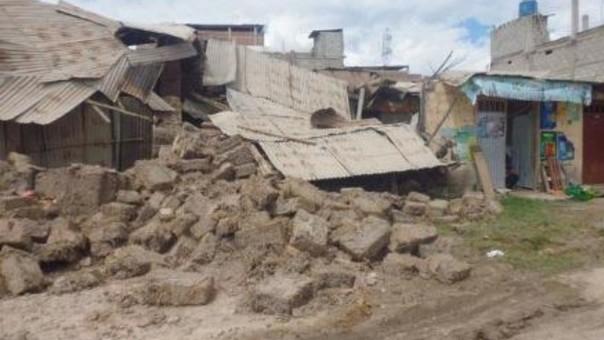 Varias viviendas colapsaron a consecuencia de las lluvias en la ciudad de Abancay.