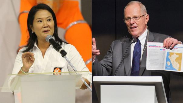 Keiko Fujimori y Pedro Pablo Kuczynski en segunda vuelta, y sus efectos en la economía.