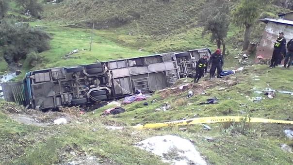 Accidente en ómnibus interprovincial
