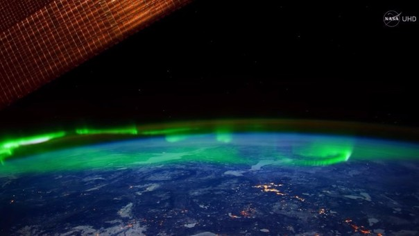 NASA capta la Aurora Boreal