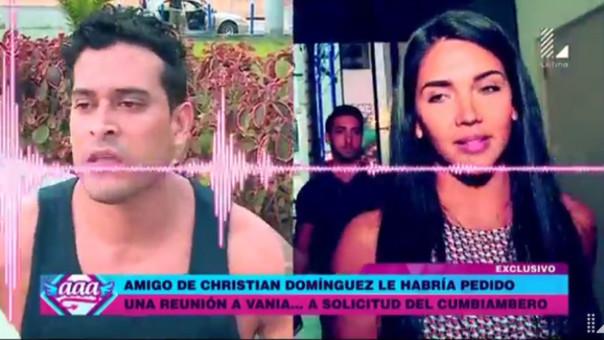 Revelador audio de Vania Bludau delataría a Christian Domínguez