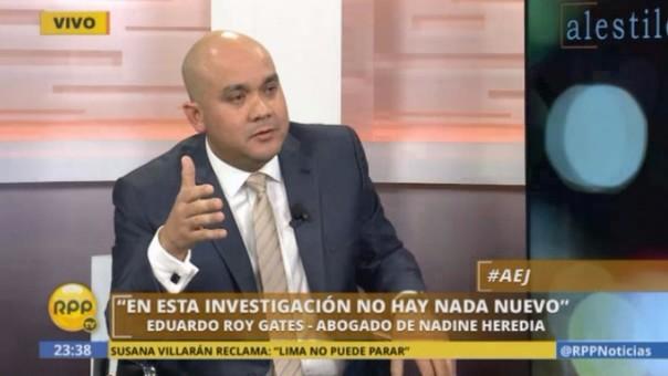 Roy Gates respondió en RPP Noticias al congresista Gustavo Rondón