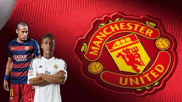 Manchester United quiere a  Neymar y Raphael Varane