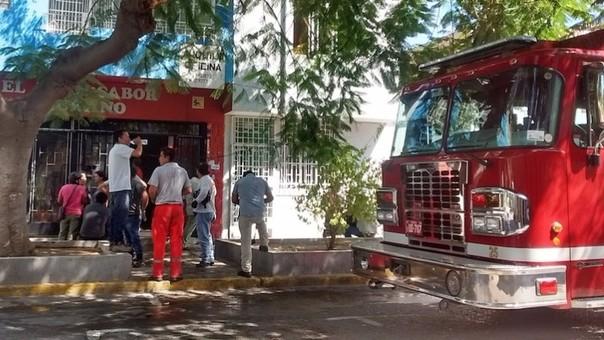 Bomberos llegaron al lugar y controlaron el amago de incendio