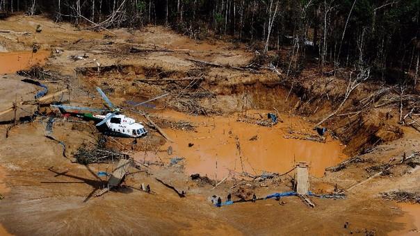 La reserva nacional de Tambopata es víctima de la minería ilegal.
