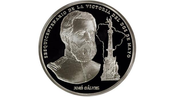Moneda alusiva a la victoria del Dos de Mayo