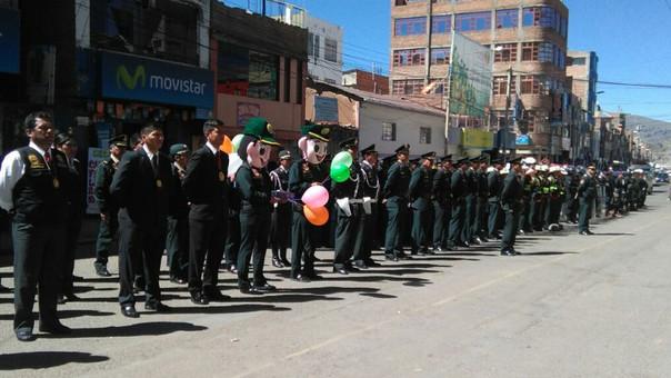 Efectivos policiales en Puno