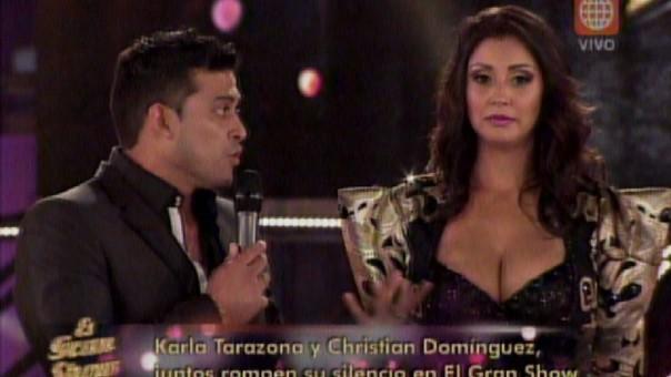Karla Tarazona y Christian Domínguez