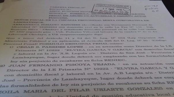 Docente De I E N 10222 De San José Denuncia A Director