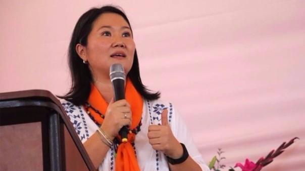 Keiko Fujimori durante actividad proselitista