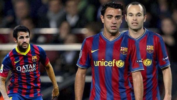 Cesc Fabregas habló así sobre Xavi y Andrés Iniesta