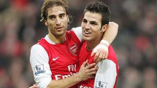 Mathie Flamini y Cesc Fabregas jugaron juntos en el Arsenal entre 2004 y 2008