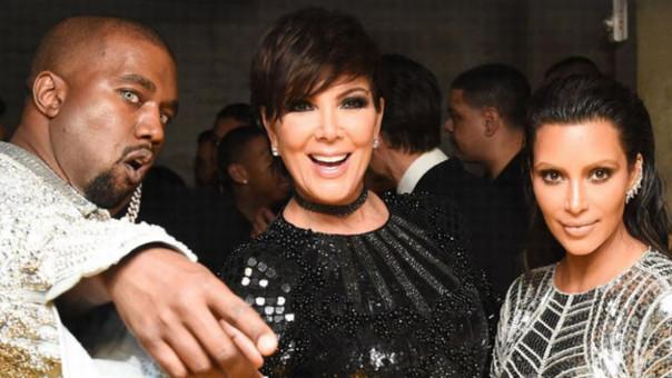 Kanye West, Kris Jenner y Kim Kardashian